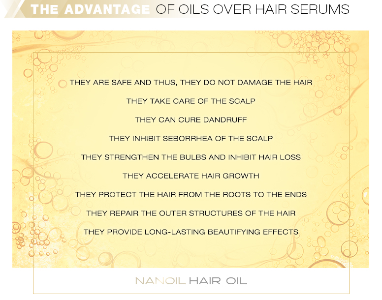 The advantage of oils over hair serums