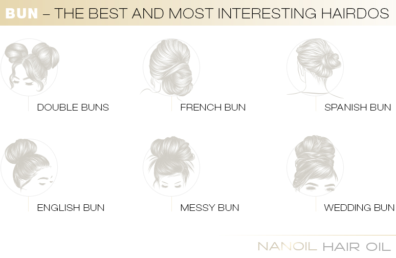 Bun – the best and most interesting hairdos