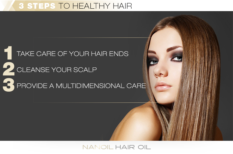 3 steps to healthy hair